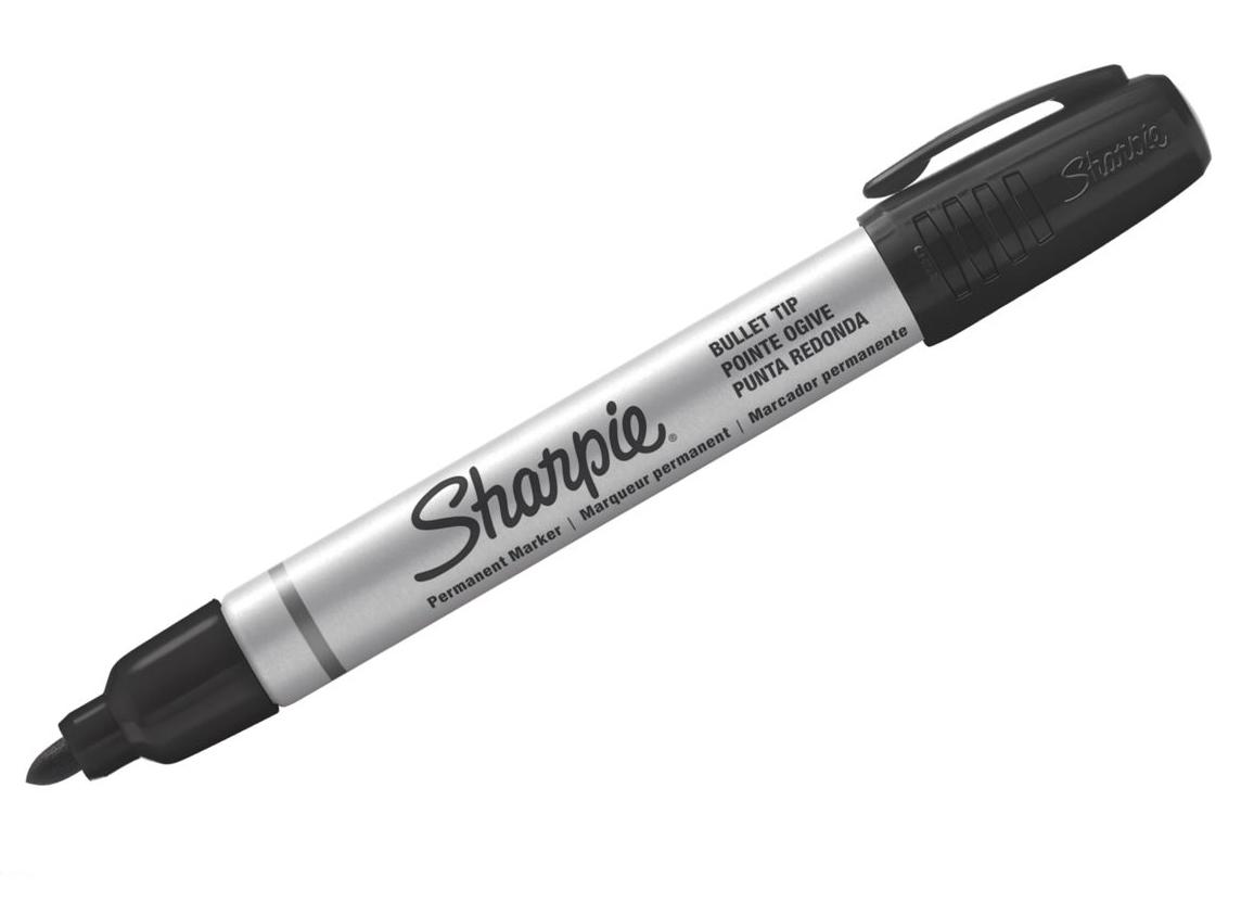 Sharpie 1842531 - Schwarz - Rundspitze - Aluminium - Schwarz - Aluminium - Fettdruck - 1 mm