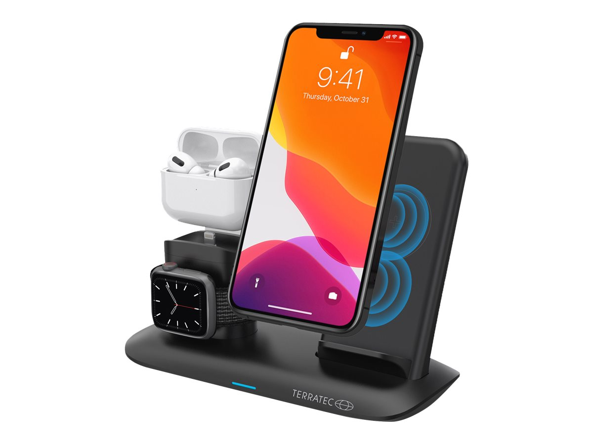 TerraTec ChargeAIR All Desk Pro - Kabelloses Ladegerät - 20 Watt (USB)