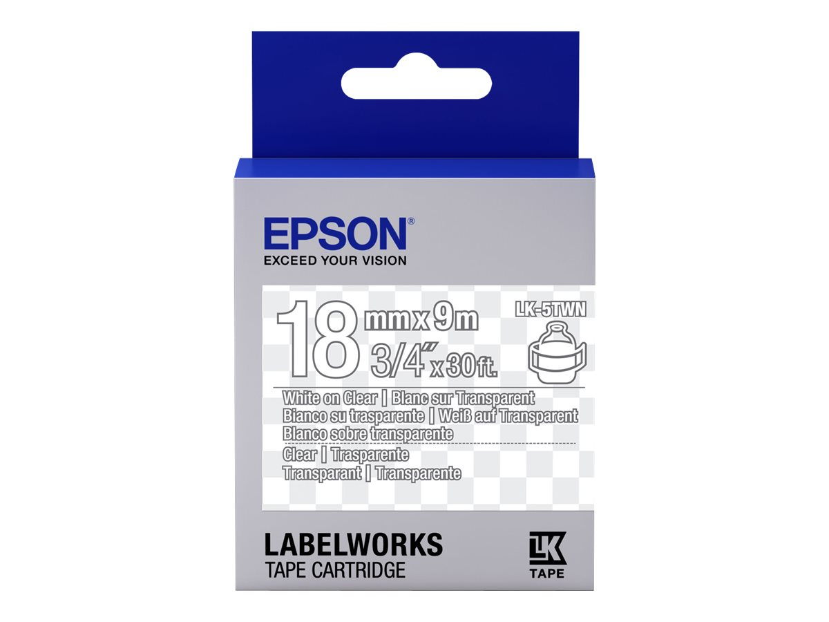 Epson LabelWorks LK-5TWN - White on Transparent - Rolle (1,8 cm x 9 m)