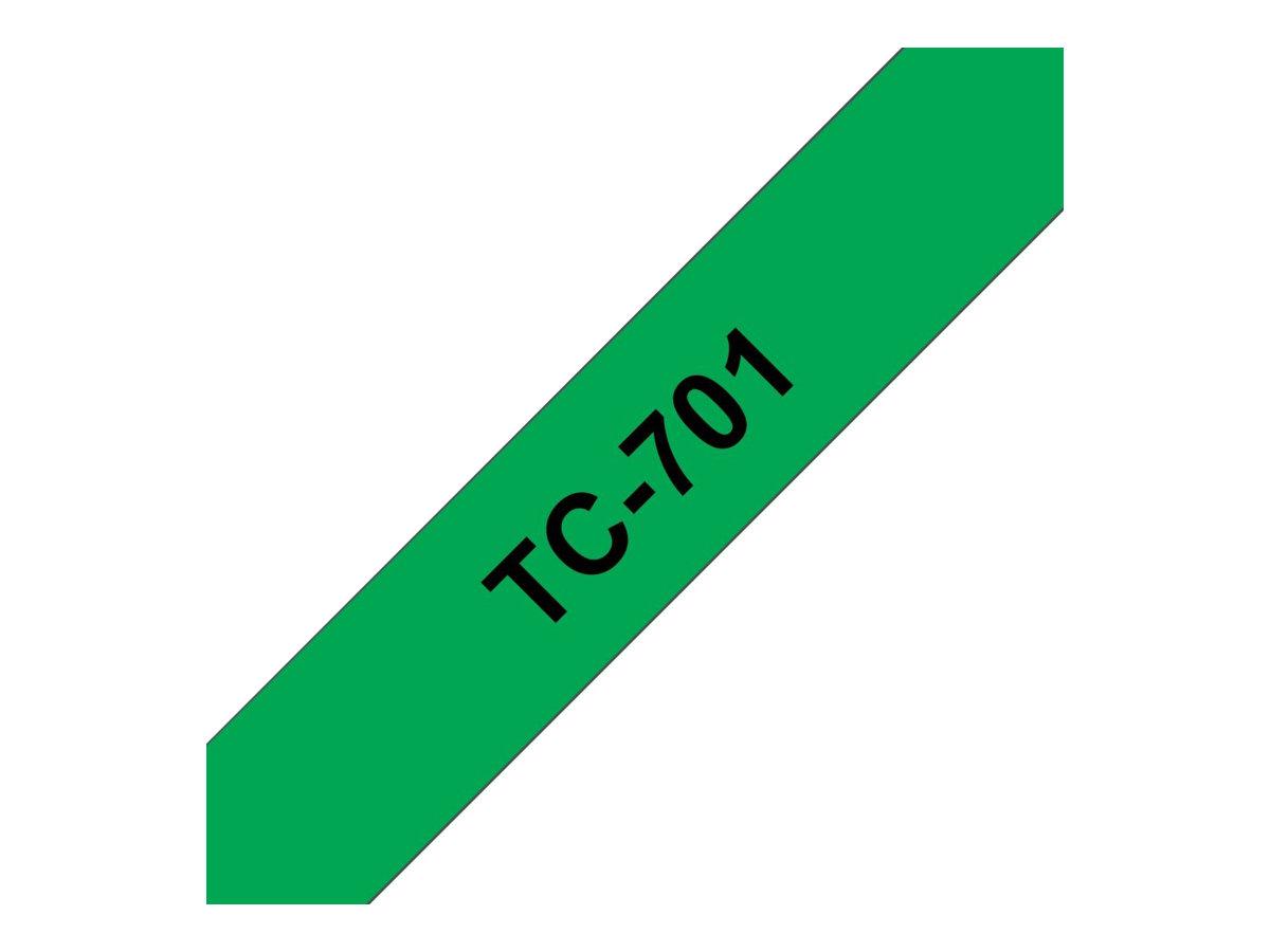 Brother Schwarz, grün - Rolle (1,2 cm) 1 Rolle(n) Etiketten