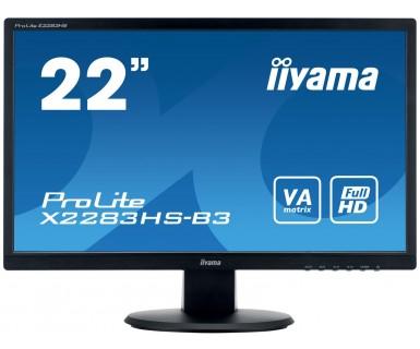 Iiyama ProLite X2283HS-B3 - 54,6 cm (21.5 Zoll) - 1920 x 1080 Pixel - Full HD - LED - 4 ms - Schwarz