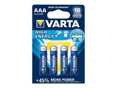 Vorschau: Varta High Energy 04903 - Batterie 4 x AAA-Typ
