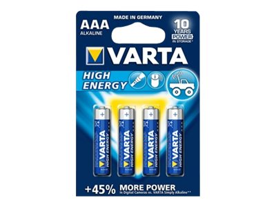 Varta High Energy 04903 - Batterie 4 x AAA-Typ