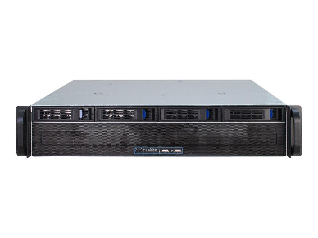 Inter-Tech IPC 2U-2404L - Rack-Montage - 2U - micro ATX - SATA/SAS - Hot-Swap - ohne Netzteil (ATX)