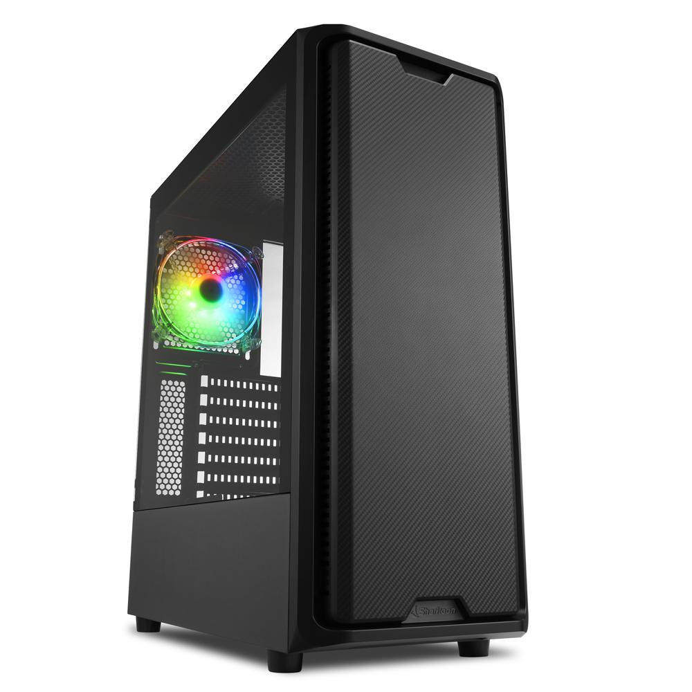 Sharkoon SK3 RGB - Midi/Minitower ATX, Micro/Mini/Flex-ATX, Mini-ITX - USB 2.0, USB 3.0