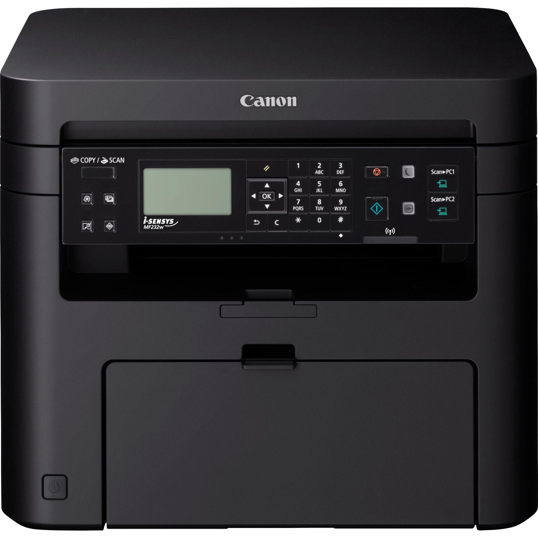Canon i-SENSYS MF 232 w Laser/LED-Druck Multifunktionsgerät - s/w - 23 ppm - USB, USB 2.0 RJ-45