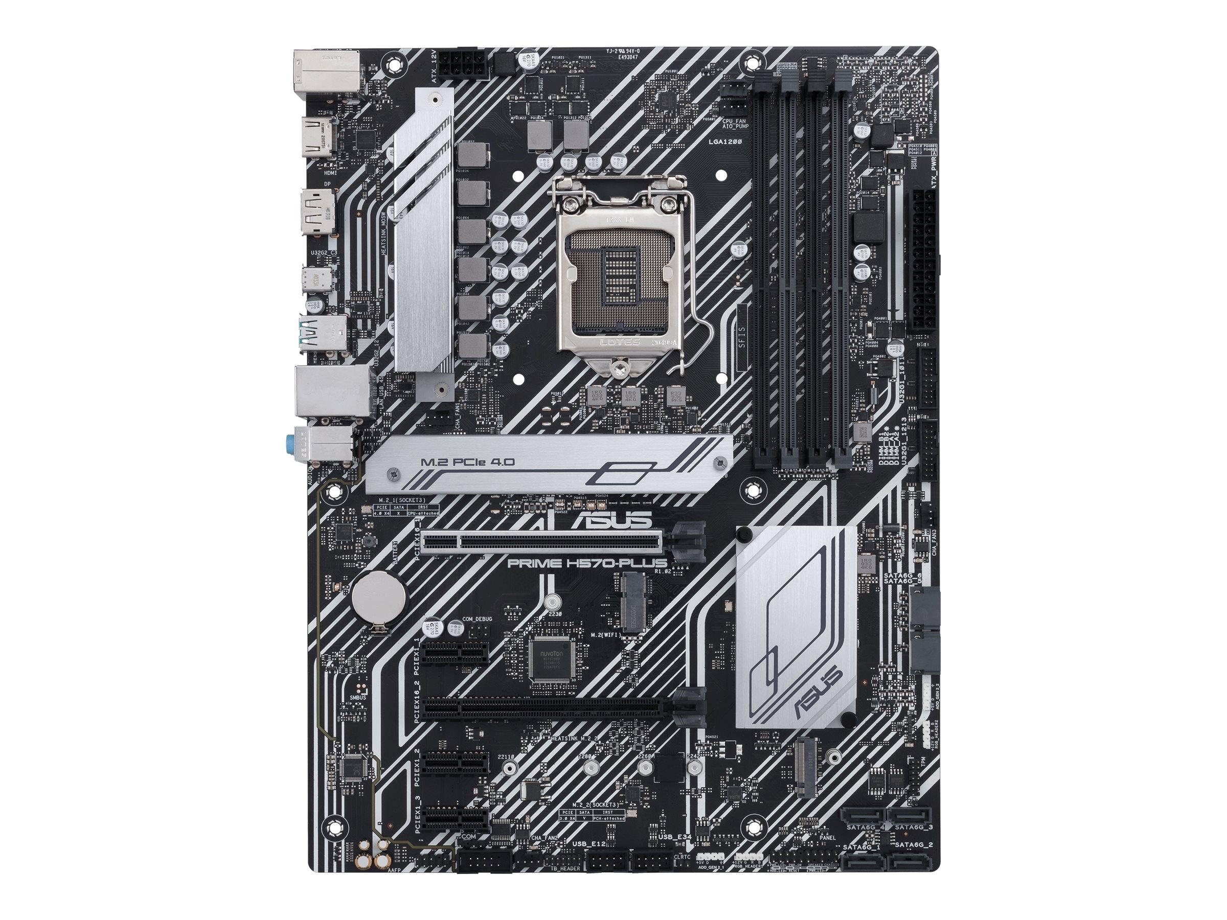 Vorschau: ASUS PRIME H570-PLUS - Motherboard - ATX - LGA1200-Sockel - H570 - USB-C Gen2, USB 3.2 Gen 1, USB 3.2 Gen 2 - Gigabit LAN - Onboard-Grafik (CPU erforderlich)