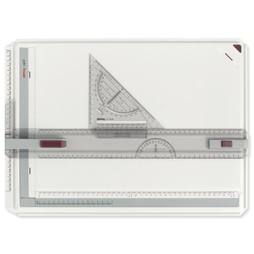rOtring Rapid A3 - Zeichenplatte - Parallel-Zeichenschiene