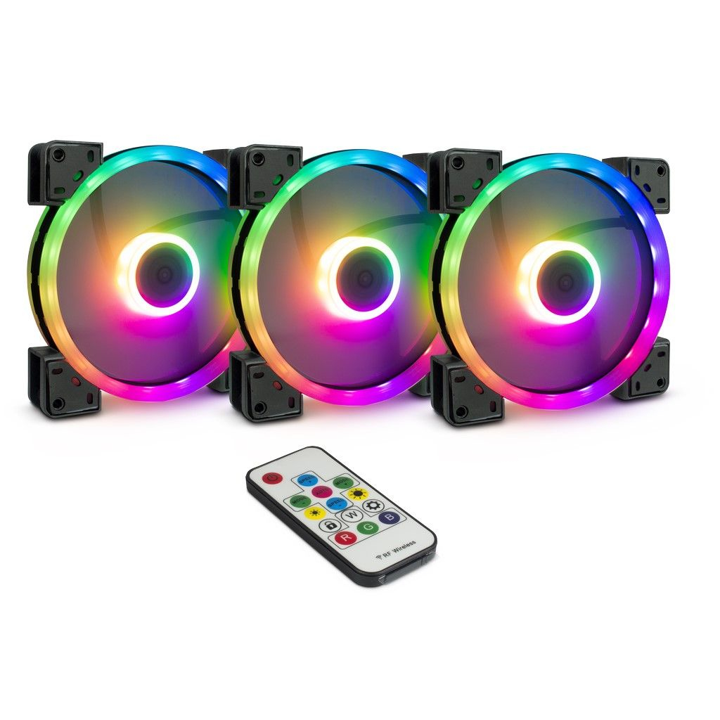 Inter-Tech Lüfter 140*140*25 Argus RGB-Fan Set RS-14 retail