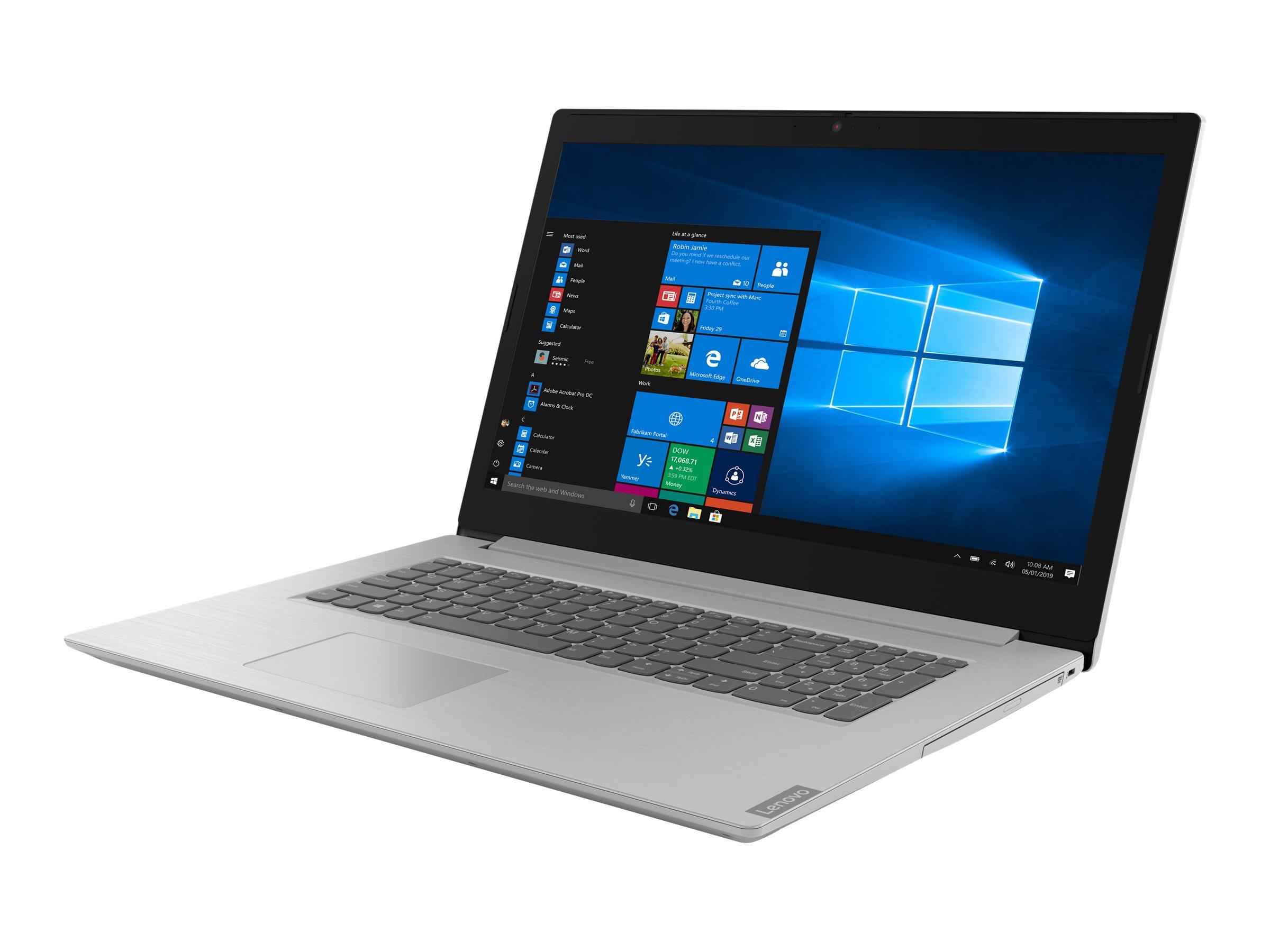 Lenovo IdeaPad L340-17IWL 81M0 - Pentium Gold 5405U / 2.3 GHz - kein Betriebssystem - 4 GB RAM - 128 GB SSD NVMe - 43.9