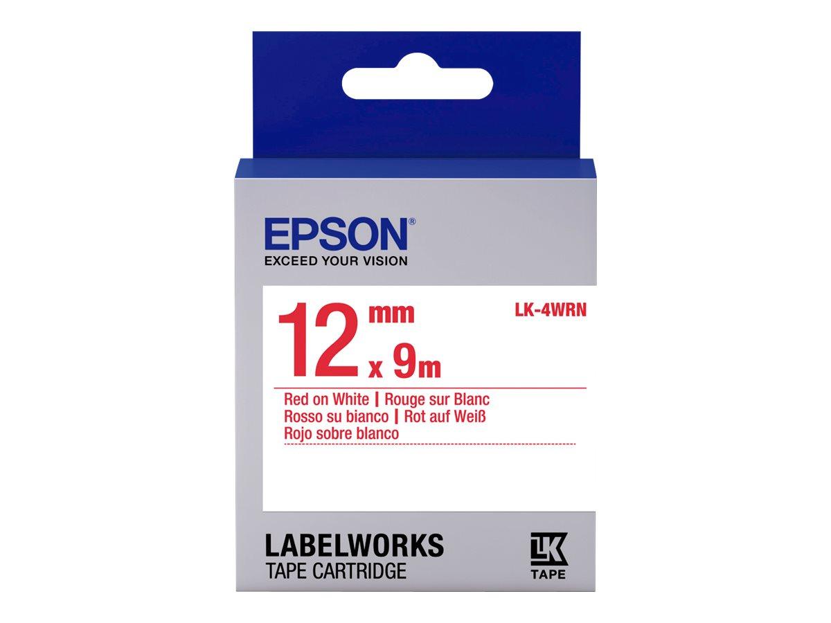Epson LabelWorks LK-4WRN - Rot auf Weiß