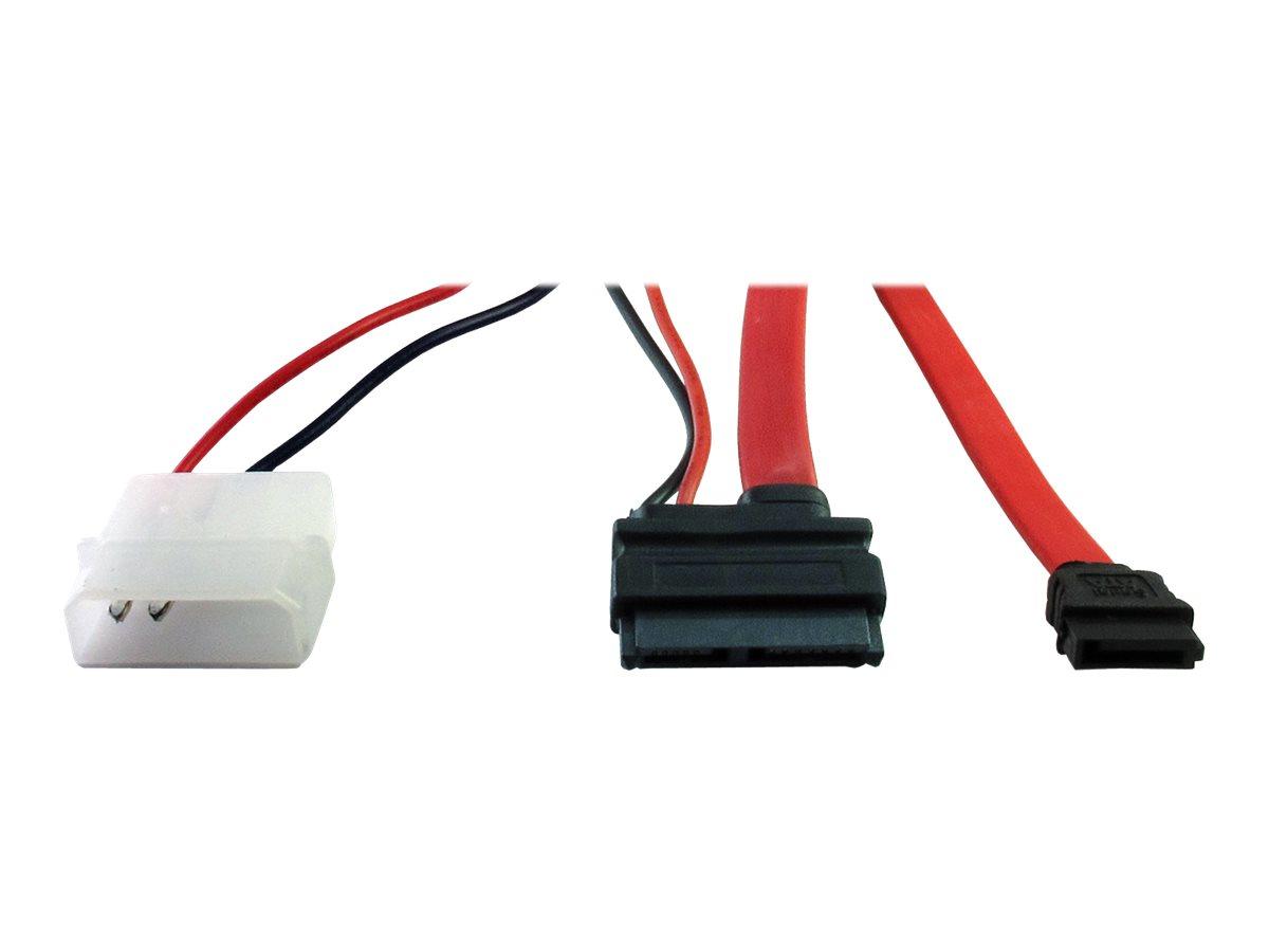 Inter-Tech SATA-Kabel - Slimline SATA bis SATA, interne Stromversorgung, 2-polig