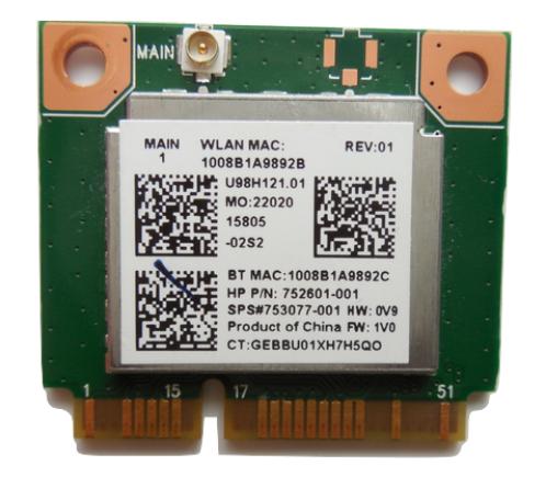 HP 753077-001 WLAN-Karte Notebook-Ersatzteil
