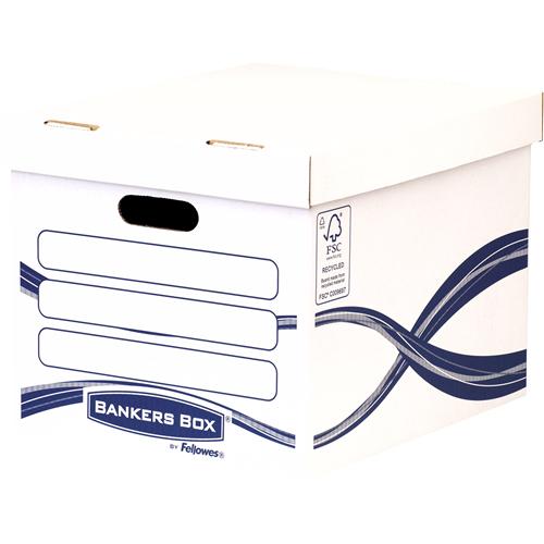 Fellowes 4460801 - Aufbewahrungsbox - Blau - Weiß - Rechteckig - Papier - Muster - Indoor