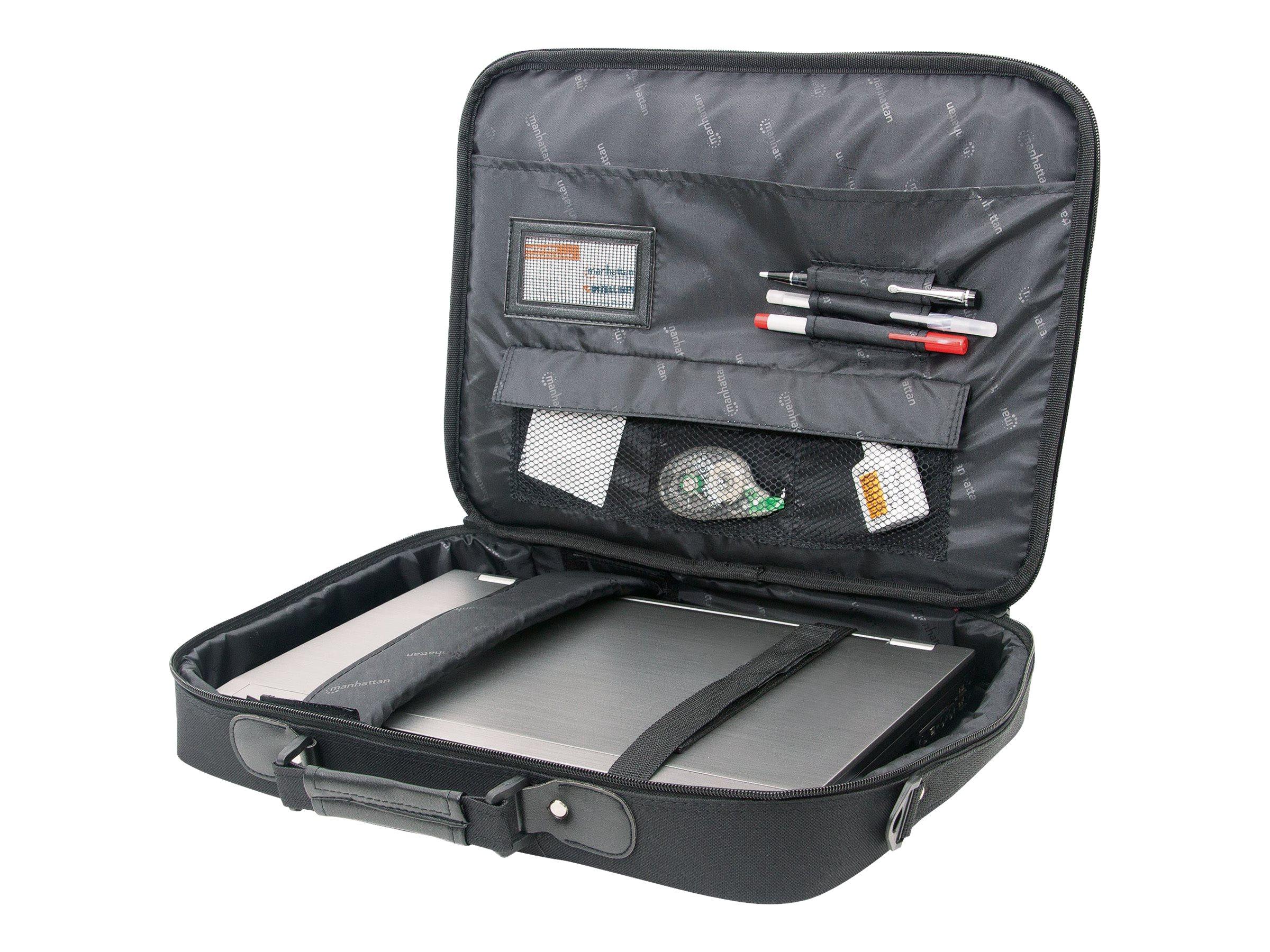 "Manhattan Empire Laptop Bag 17.3"", Clamshell design, Accessories Pocket, Shoulder Strap (removable)"