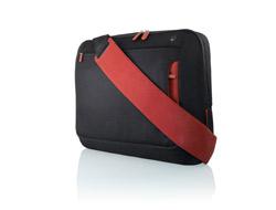 Belkin Notebooktasche Kurier bis 15.6 , Kohlenschwarz/Weinrot