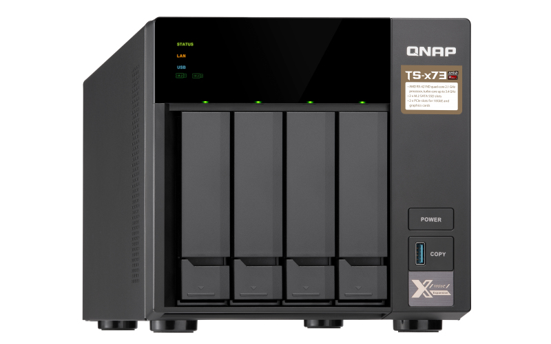 QNAP TS-473-8G - NAS-Server - 4 Schächte - 24 TB