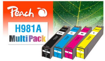Peach PI300-776 - Kompatibel - Tinte auf Pigmentbasis - Cyan - Magenta - Gelb - HP - Multi pack - PageWide Enterprise Color 550 Series PageWide Enterprise Color 556 dn PageWide Enterprise Color...