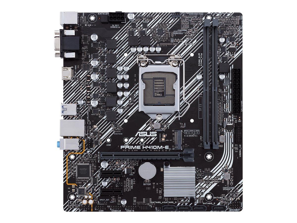 ASUS PRIME H410M-E - Motherboard - micro ATX - LGA1200-Sockel - H410 - USB 3.2 Gen 1 - Gigabit LAN - Onboard-Grafik (CPU