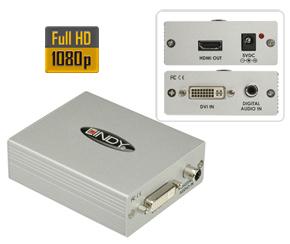 Lindy DVI-D & SPDIF to HDMI Converter Kombiniert digitale DV