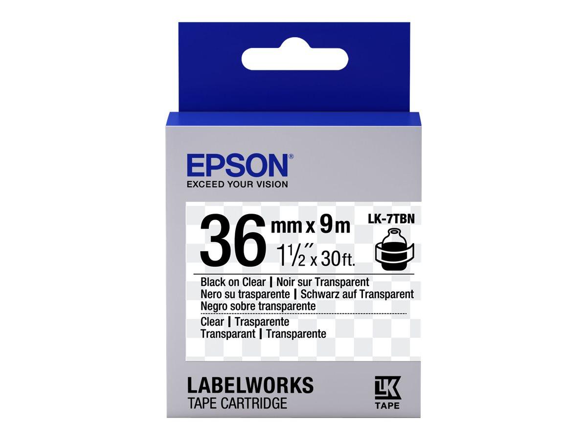 Epson LabelWorks LK-7TBN - Schwarz auf Transparent - Rolle (3,6 cm x 9 m)