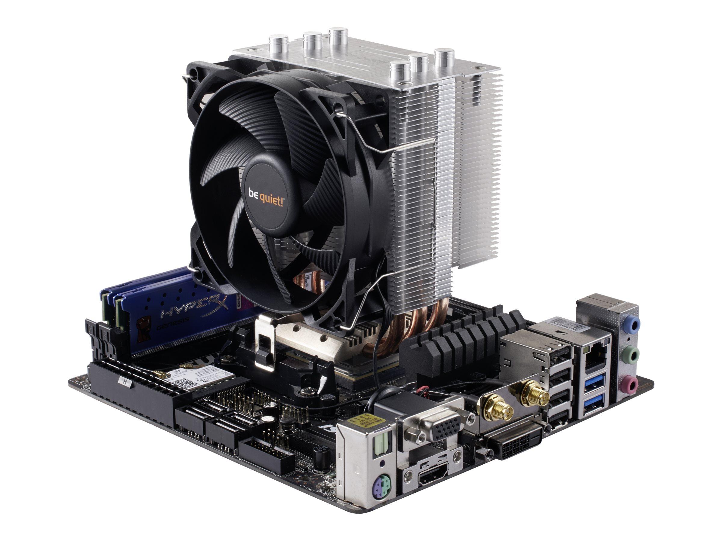 Be Quiet! Pure Rock Slim - Prozessor-Luftkühler - (für: LGA1156, AM2, AM2+, AM3, LGA1155, AM3+, FM1, FM2, LGA1150, FM2+, LGA1151)