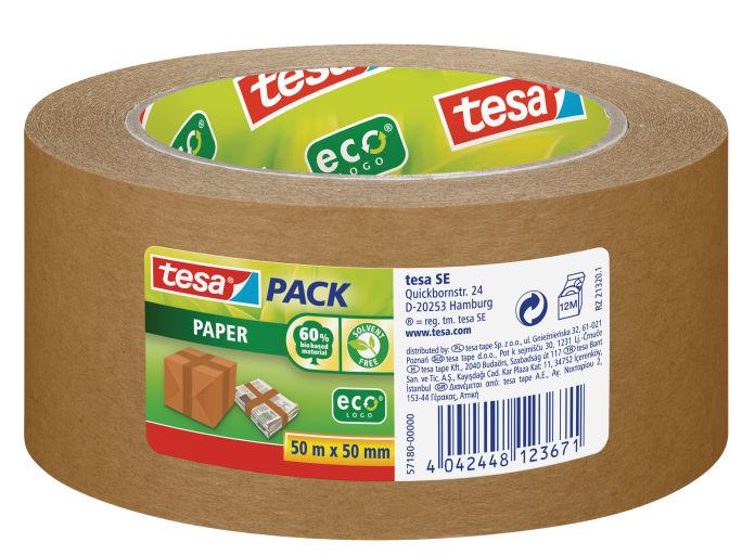 Tesa - Packband - Papier - Eco - Braun - Verpackungsklebeband