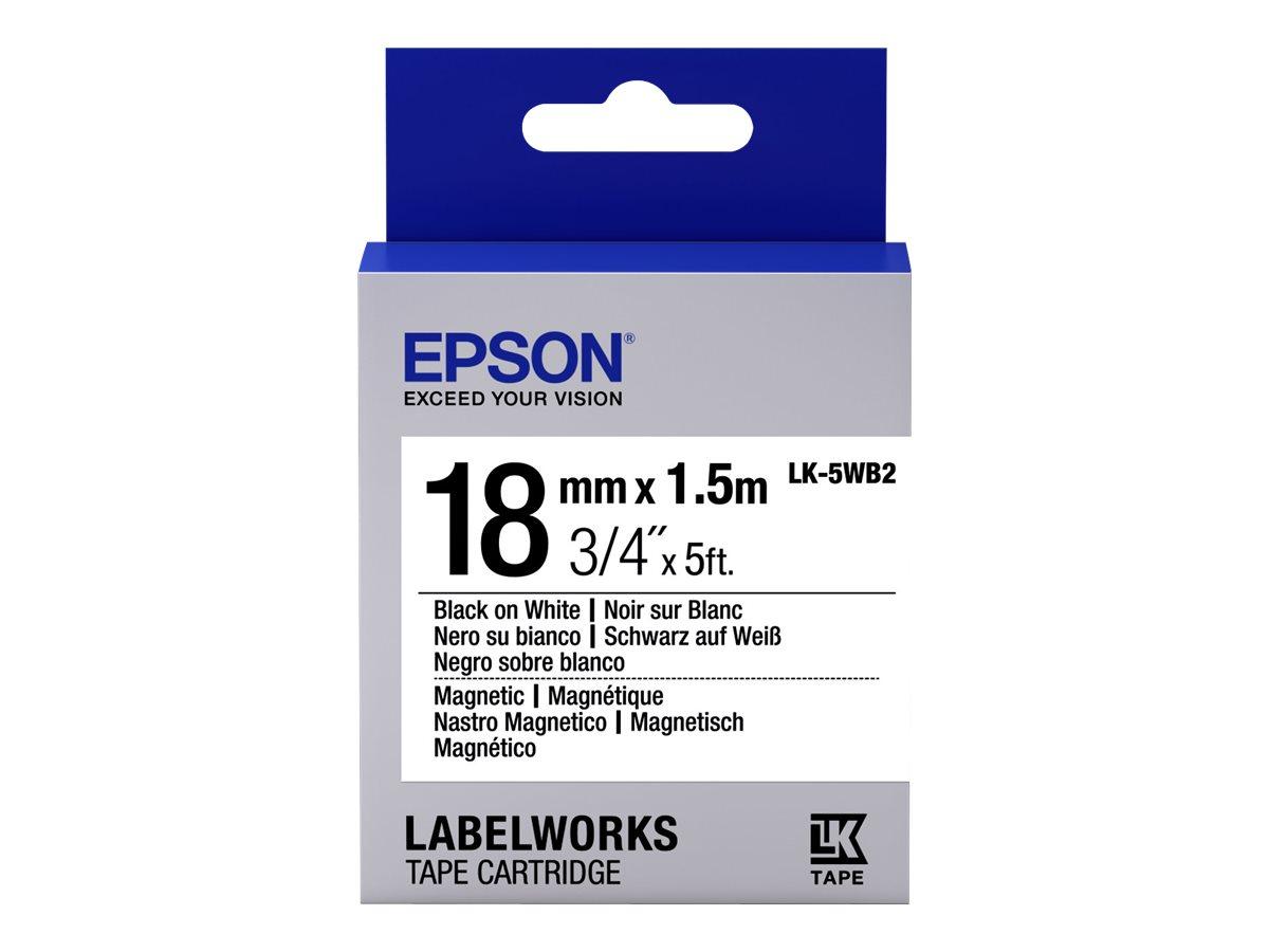 Epson LabelWorks LK-5WB2 - Schwarz auf Weiß