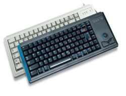 Cherry Slim Line Compact-Keyboard G84-4400 - Tastatur - 83 Tasten - Grau