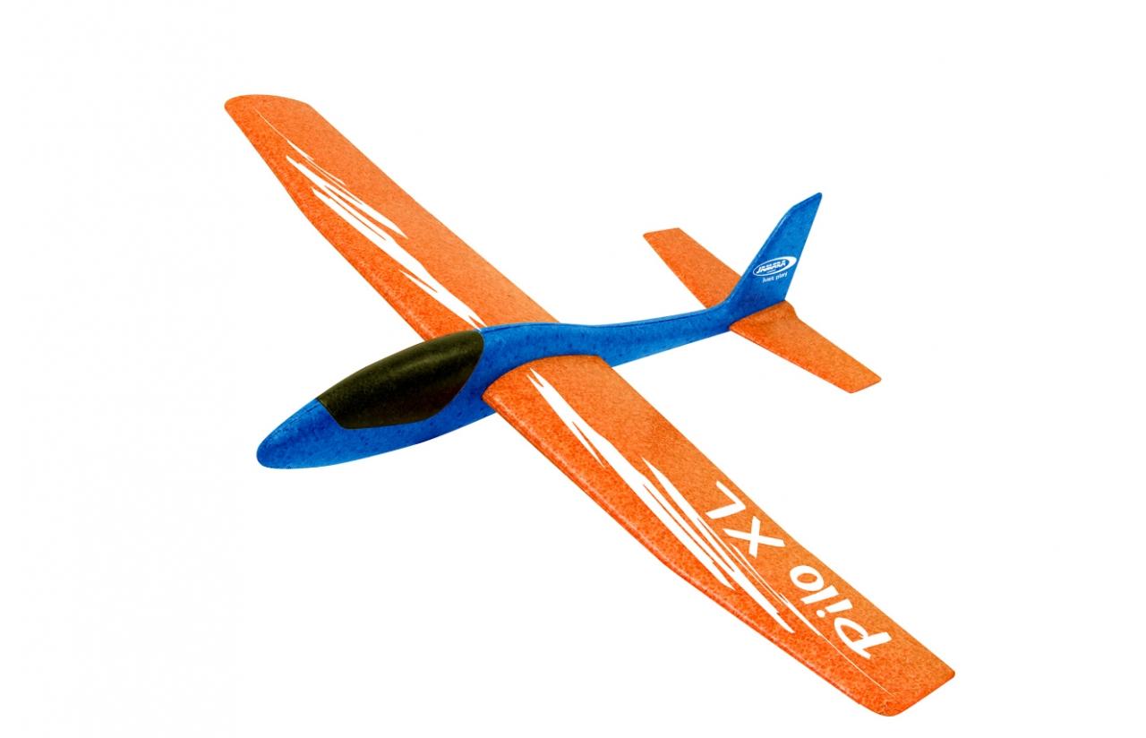 JAMARA Schaumwurfgleiter 2in1 - Pilo XL - Spielzeug-Segelflugzeug - Schaum - 1 Stück(e) - Blau - Orange - Montagesatz - 8 Jahr(e)
