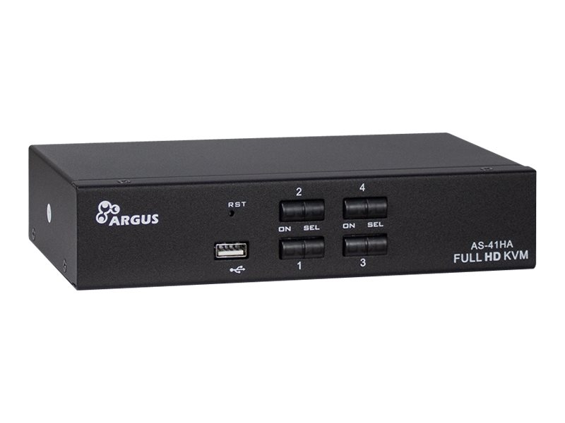 Inter-Tech Argus KVM AS-41HA - KVM-/Audio-Switch - 4 x KVM/Audio