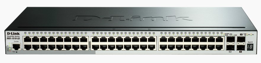 D-Link DGS-1510-52 Managed network switch L3 Gigabit Ethernet (10/100/1000) Schwarz Netzwerk-Switch