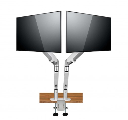 Spire Arm 2 - 9 kg - 68,6 cm (27 Zoll) - 75 x 75 mm - 100 x 100 mm - Höhenverstellung - Silber - Weiß