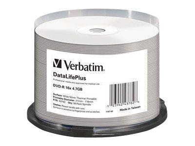 Verbatim DataLifePlus - 50 x DVD-R - 4.7 GB 16x