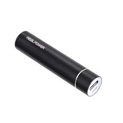 RealPower PB-26 - Schwarz - Universal - Aluminium - 2600 mAh - 1 A - Mikro-USB