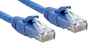 Lindy Cat.6 UTP Premium Patchkabel halogenfrei blau - Kabel