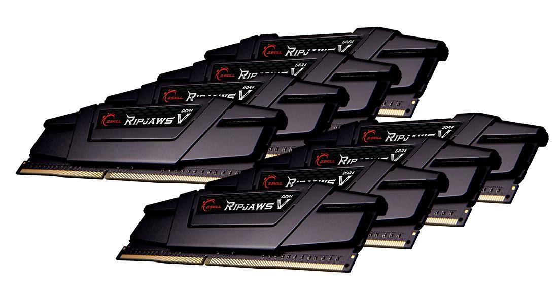 G.Skill Ripjaws V - DDR4 - 256 GB: 8 32 GB - DIMM 288-PIN