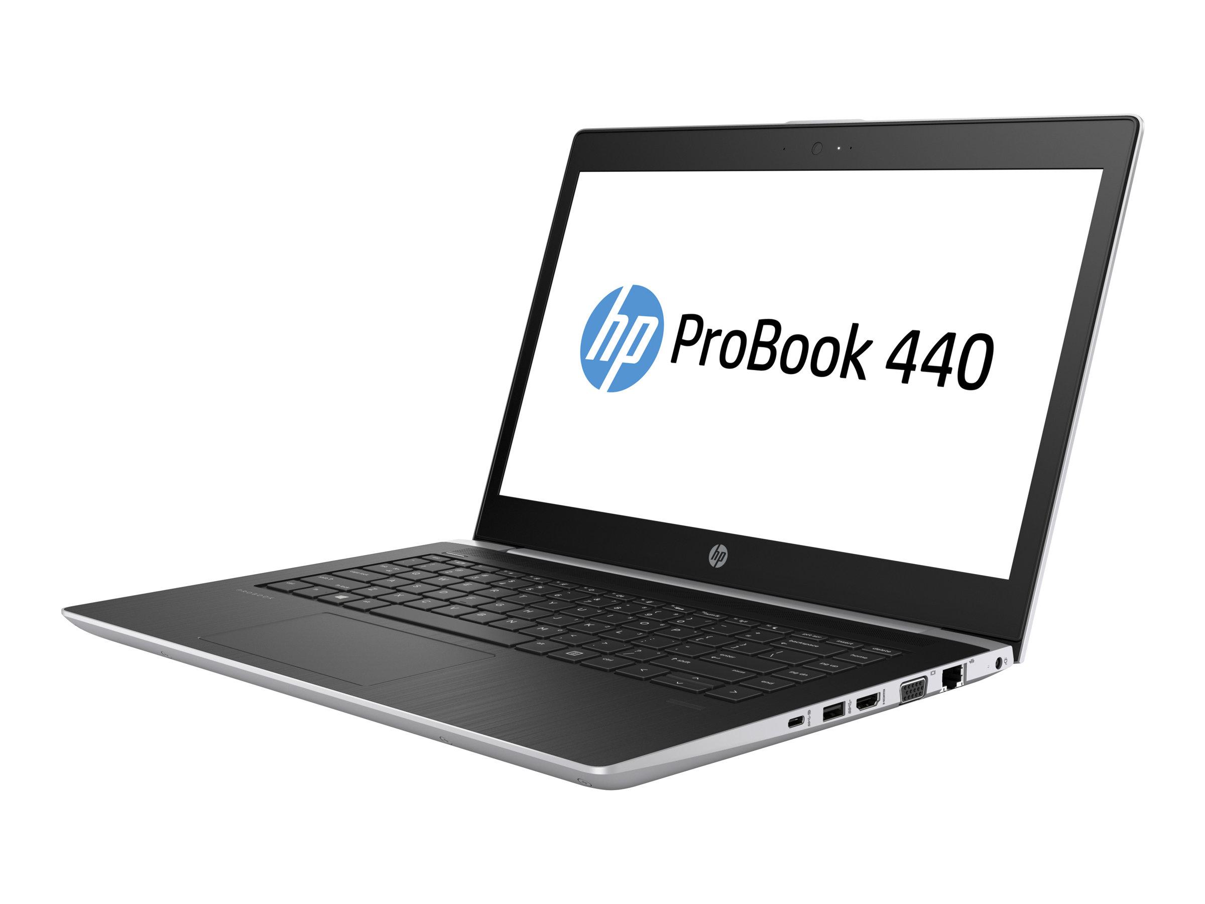 """HP ProBook 440 G5 - Win 10 Pro - Core i5-8250U / 1.6 GHz - 8 GB RAM - 256 GB SSD M.2 NVMe + 1 TB HDD - 35.56 cm (14"""") IPS - NVIDIA GeForce 930MX"""
