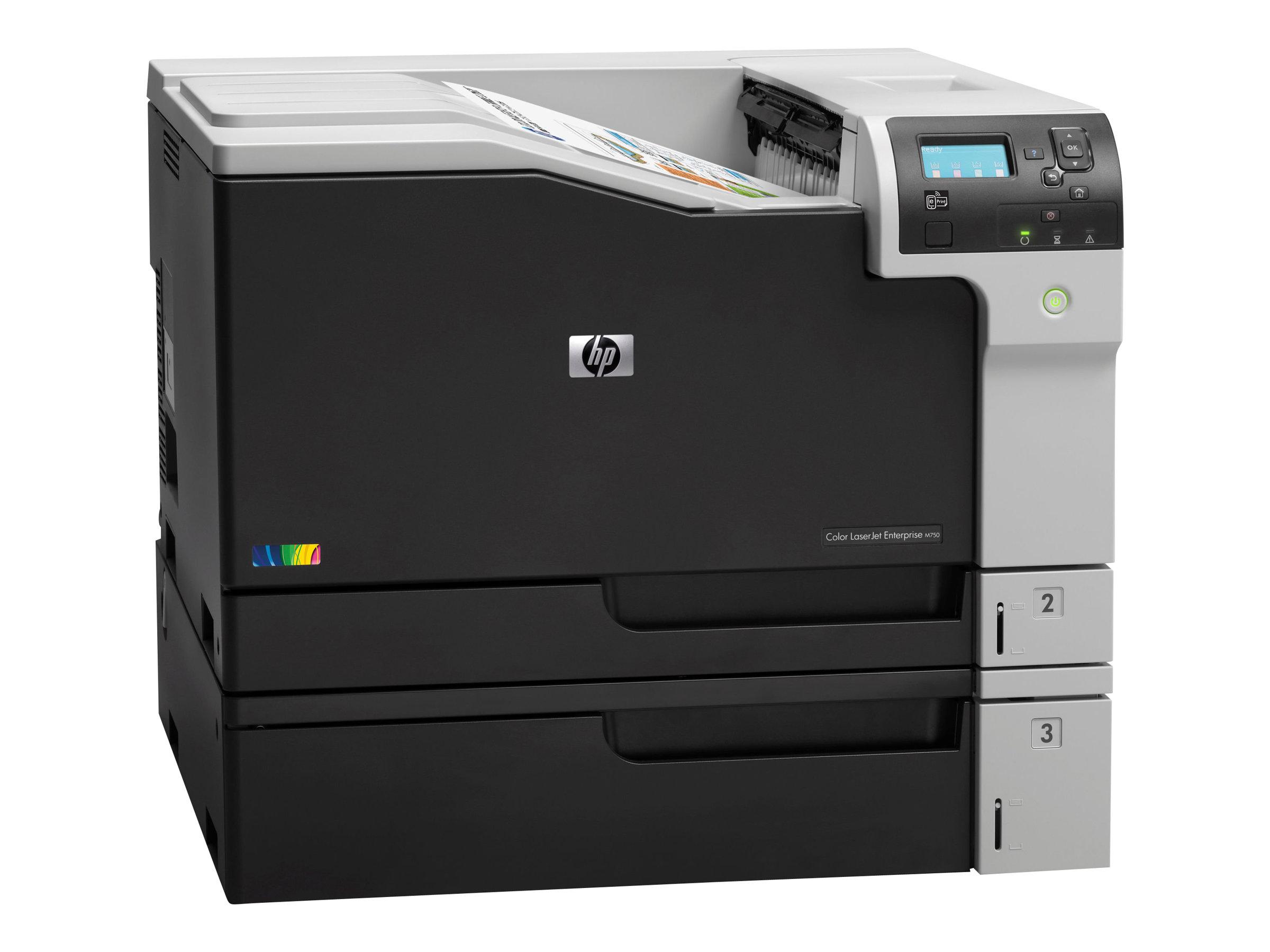 HP Color LaserJet Enterprise M750dn - Drucker - Farbe - Duplex - Laser - A3/Ledger - 600 x 600 dpi - bis zu 30 Seiten/Min. (einfarbig)/