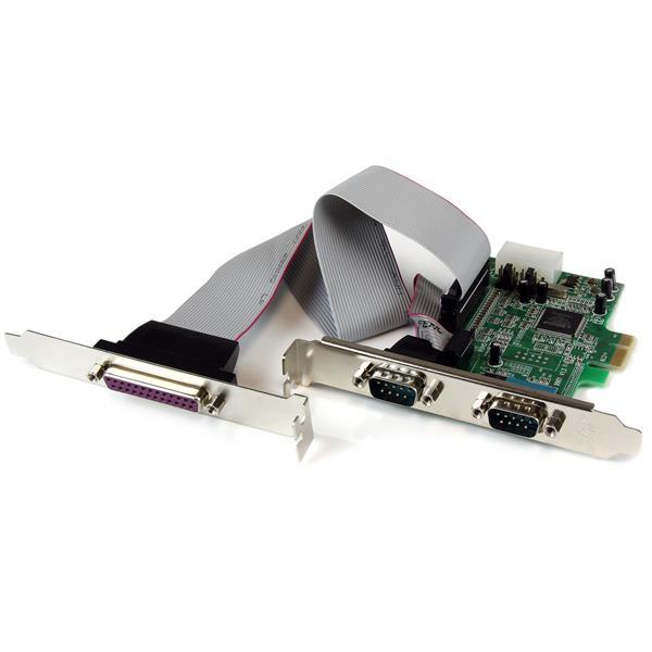 StarTech.com 2S1P Seriell/Parallel RS232 PCI Express Karte mit 16550 UART
