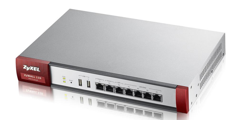 ZyXEL ZyWall 110 - 1000 Mbit/s - 1000 Mbit/s - 300 Mbit/s - 787,1093 h - 25 Benutzer - Verkabelt