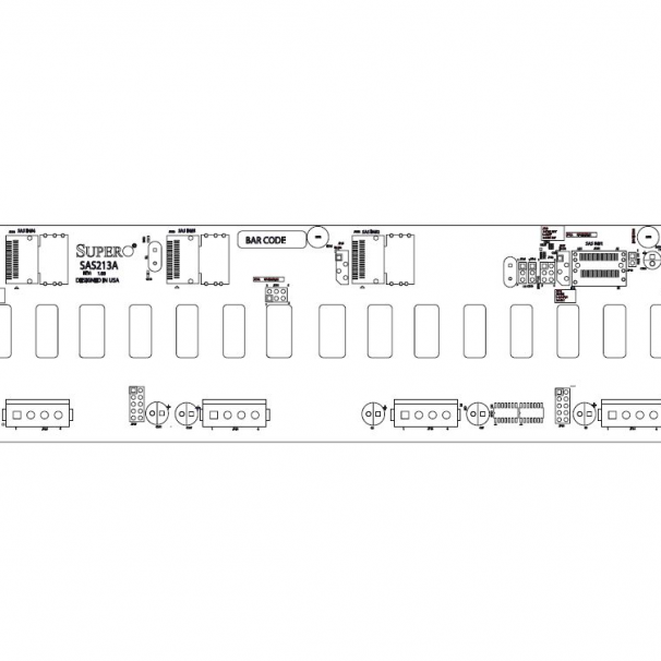 Supermicro BPN-SAS-213A Backplane