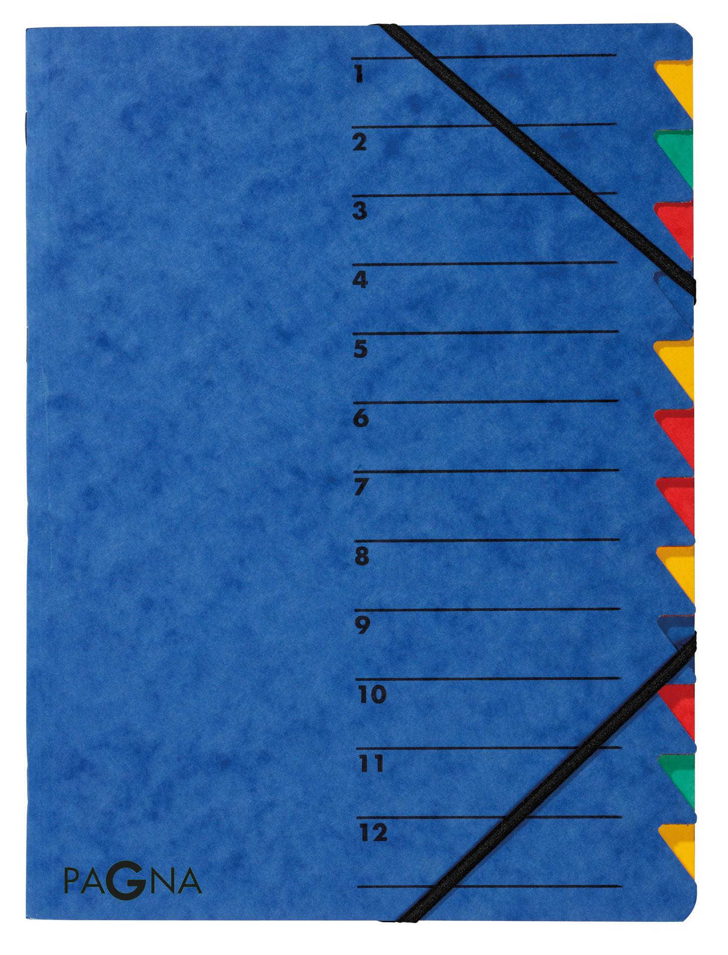 Pagna Ordnungsmappe Easy 12 Fächer - A4 - Blau - Porträt - 240 mm - 5 mm - 320 mm