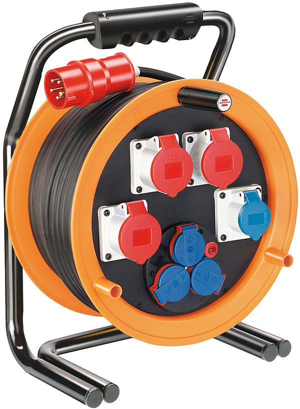 Brennenstuhl Brobusta CEE 4 IP44 cable reel for site & industry 40m H07RN-F 5G2,5