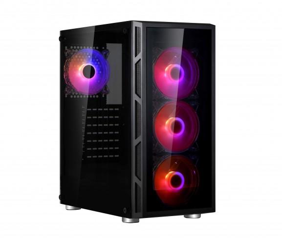 Vorschau: Spire VISION 7025 RGB - Midi Tower - PC - SPCC - Schwarz - ATX - micro ATX - 16,5 cm