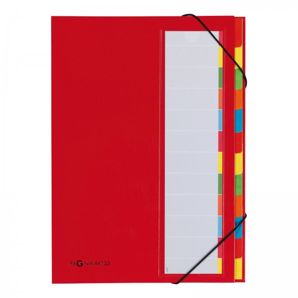 Pagna 44133-01 - Pappe - Papier - Polyester - Kautschuk - Rot - Porträt - 238 mm - 15 mm - 330 mm