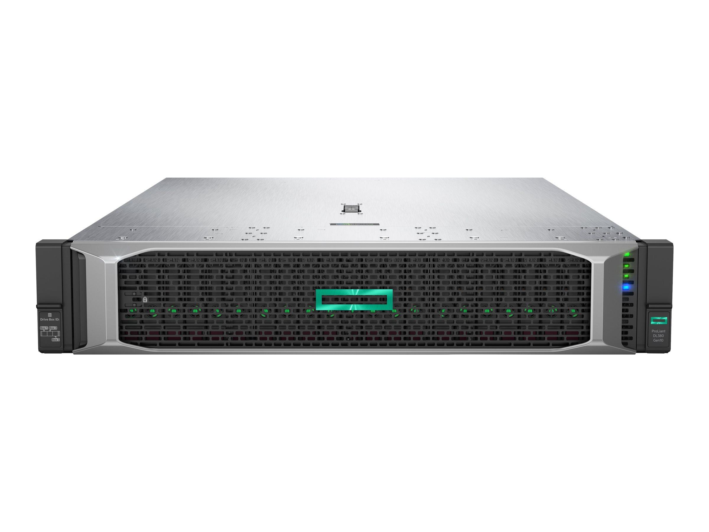 "Vorschau: HP Enterprise ProLiant DL380 Gen10 SMB Networking Choice - Server - Rack-Montage - 2U - zweiweg - 1 x Xeon Gold 5218R / 2.1 GHz - RAM 32 GB - SATA - Hot-Swap 6.4 cm (2.5"")"
