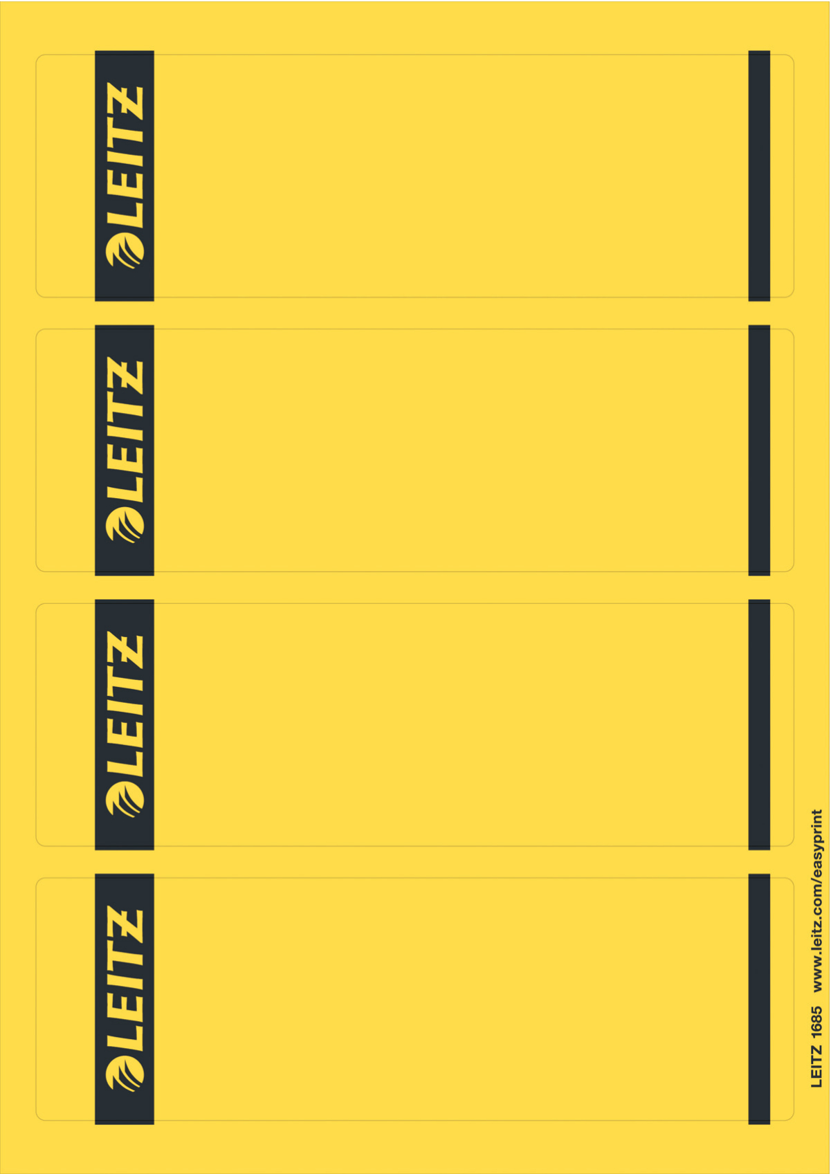 Esselte Leitz PC-beschriftbare Rückenschilder für Qualitäts-Ordner 180° - Standard- und Hartpappe-Ordner selbstklebendes Etikett