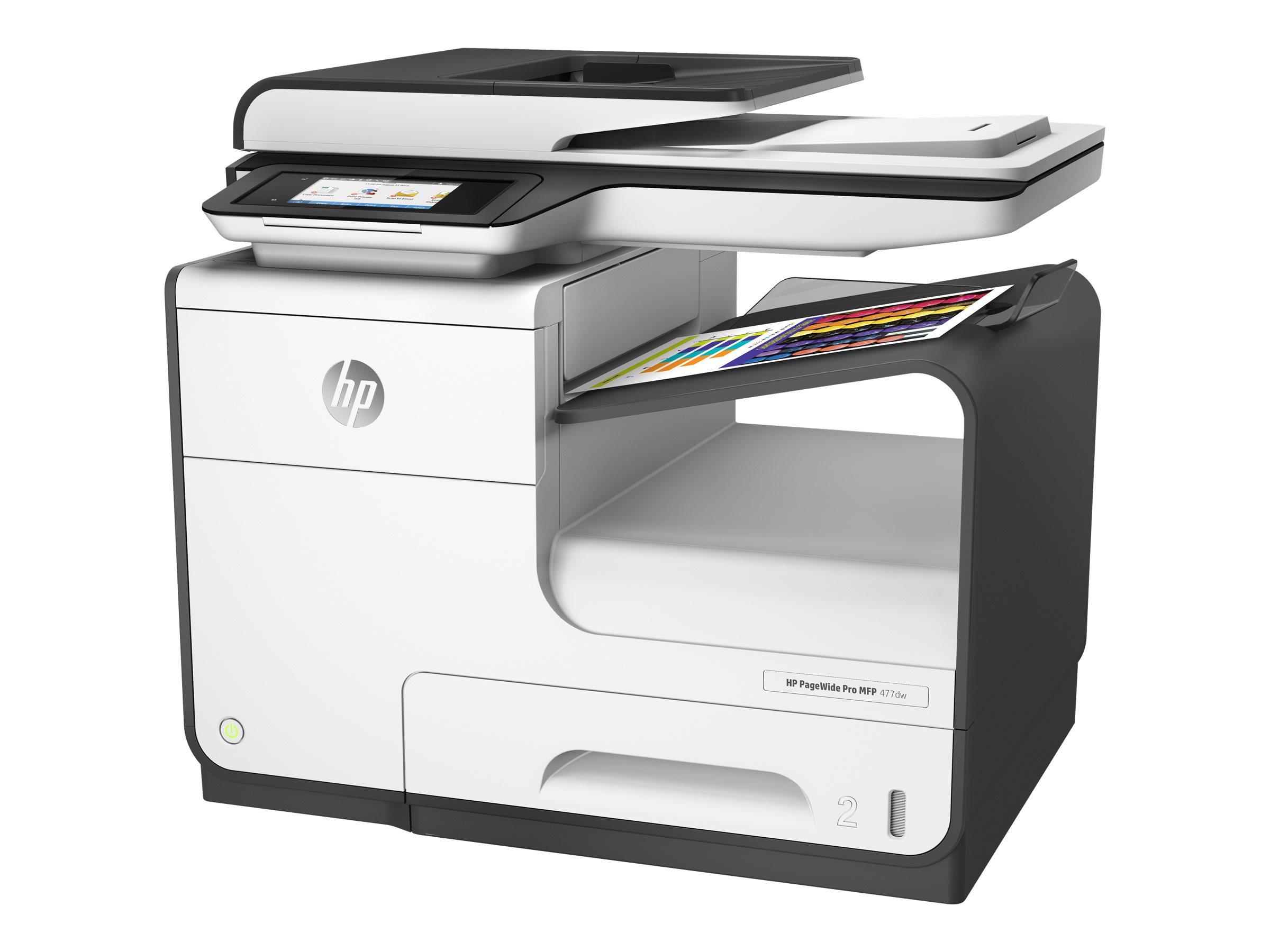 HP PageWide Pro 477dw - Multifunktionsdrucker - Farbe - seitenbreite Palette - Legal (216 x 356 mm)