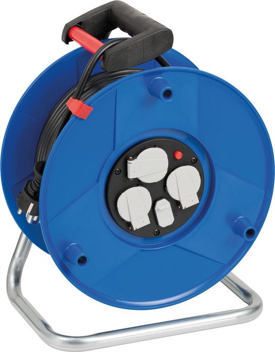 Brennenstuhl 1205060600 - 50 m - 1 AC-Ausgänge - Indoor - IP20 - Polyvinylchlorid (PVC) - Kunststoff - Schwarz - Blau